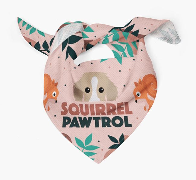 'Squirrel Pawtrol' - Personalised Bedlington Whippet Bandana