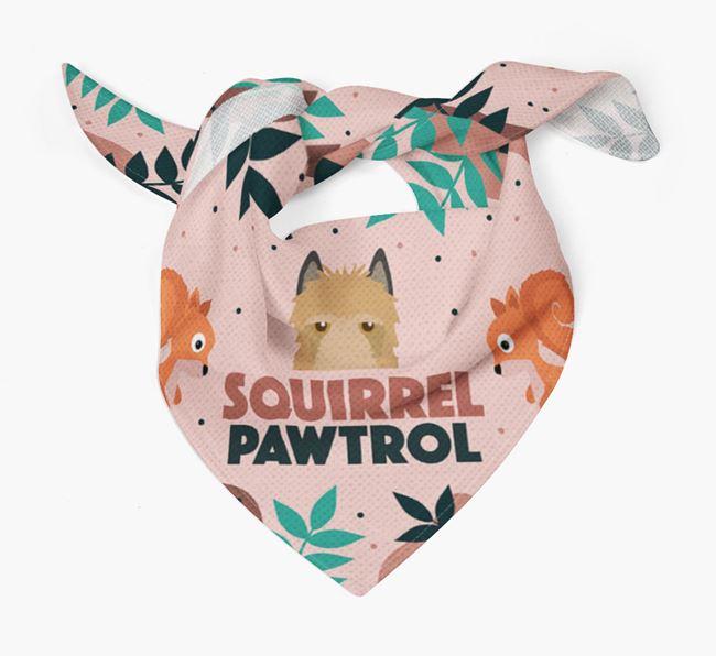 'Squirrel Pawtrol' - Personalised Belgian Laekenois Bandana