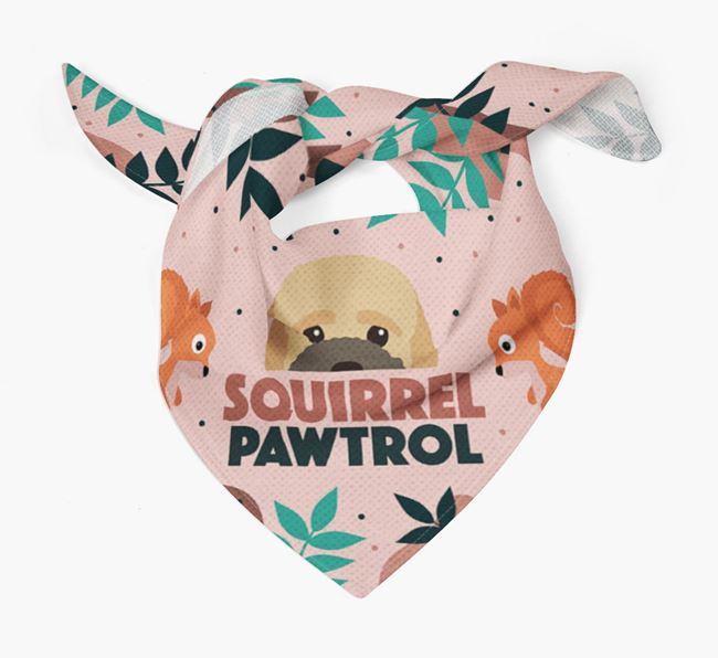 'Squirrel Pawtrol' - Personalized Bich-poo Bandana