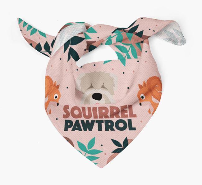 'Squirrel Pawtrol' - Personalised Black Russian Terrier Bandana