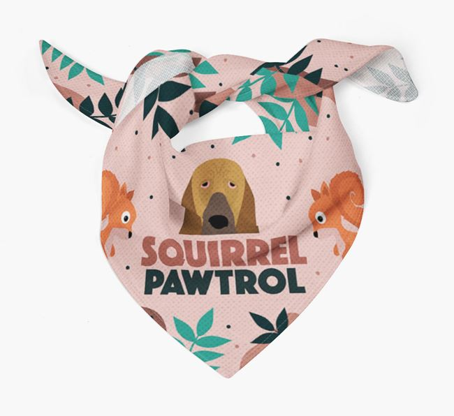 'Squirrel Pawtrol' - Personalised Bloodhound Bandana
