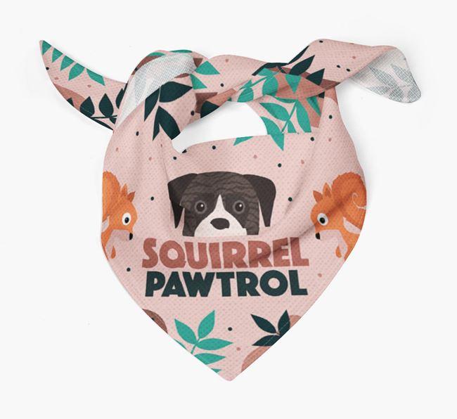 'Squirrel Pawtrol' - Personalised Boerboel Bandana