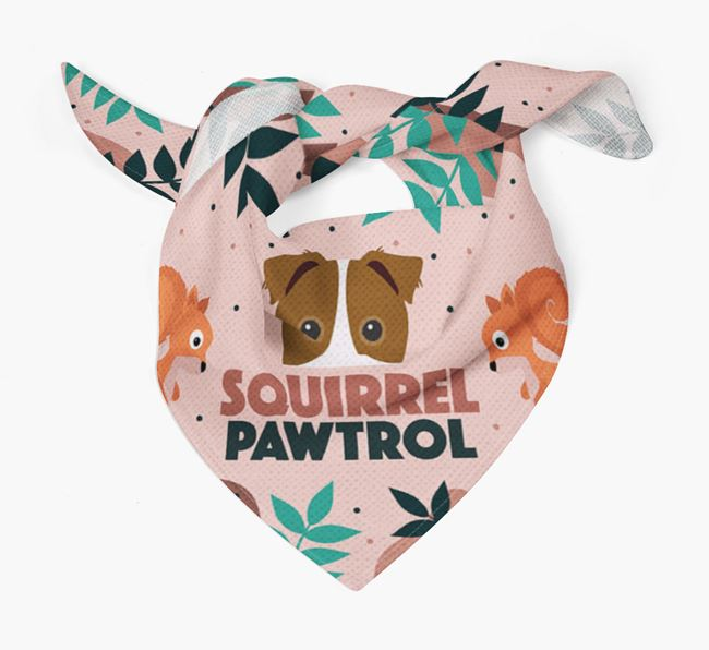 'Squirrel Pawtrol' - Personalised Border Jack Bandana