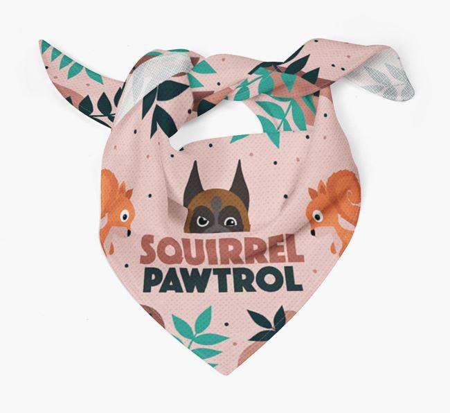 'Squirrel Pawtrol' - Personalised Boxer Bandana