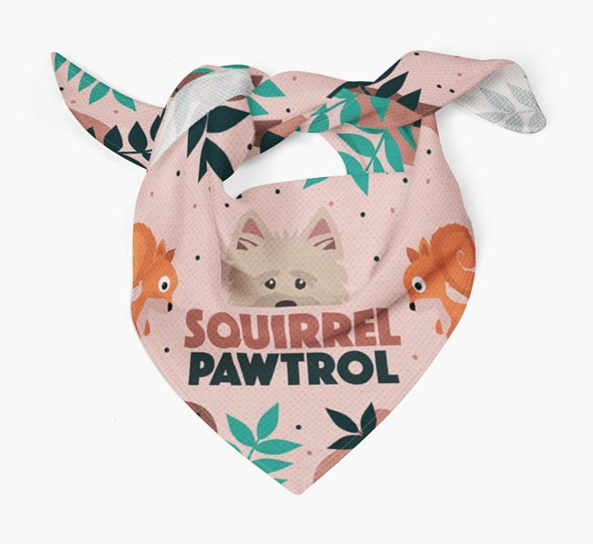 'Squirrel Pawtrol' - Personalized Cairn Terrier Bandana