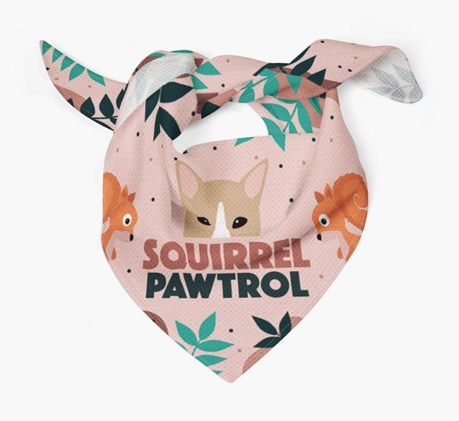 'Squirrel Pawtrol' - Personalised Canaan Dog Bandana