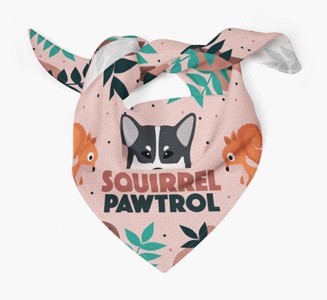 'Squirrel Pawtrol' - Personalised Canadian Eskimo Dog Bandana