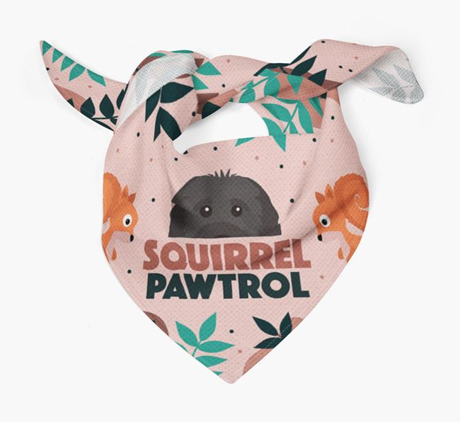 'Squirrel Pawtrol' - Personalized Cavapoo Bandana