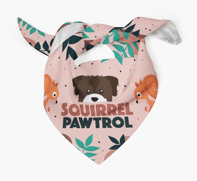 'Squirrel Pawtrol' - Personalised Cava Tzu Bandana