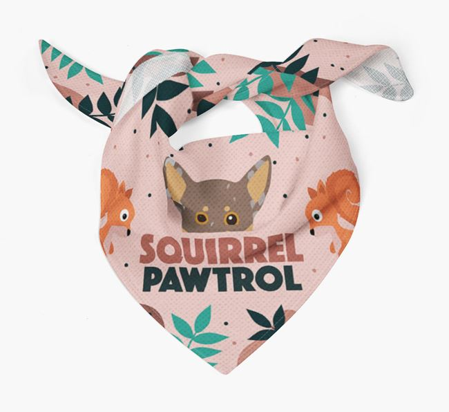 'Squirrel Pawtrol' - Personalised Chiweenie Bandana