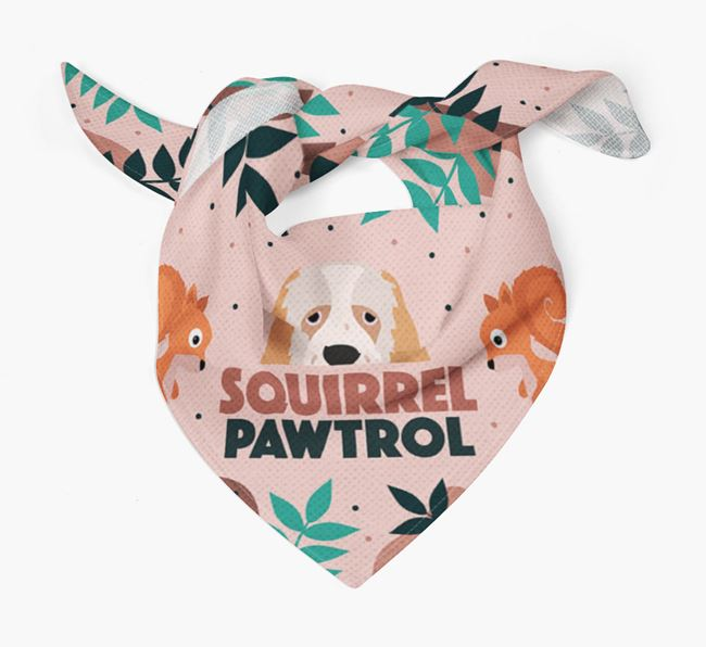 'Squirrel Pawtrol' - Personalised Clumber Spaniel Bandana