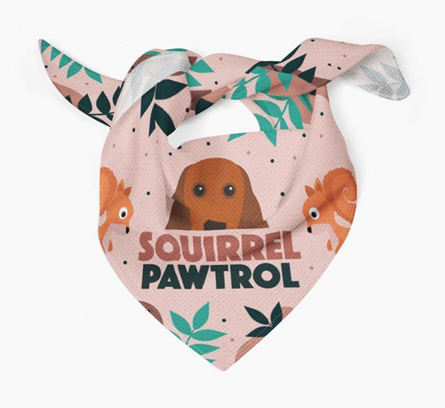 'Squirrel Pawtrol' - Personalized Cocker Spaniel Bandana
