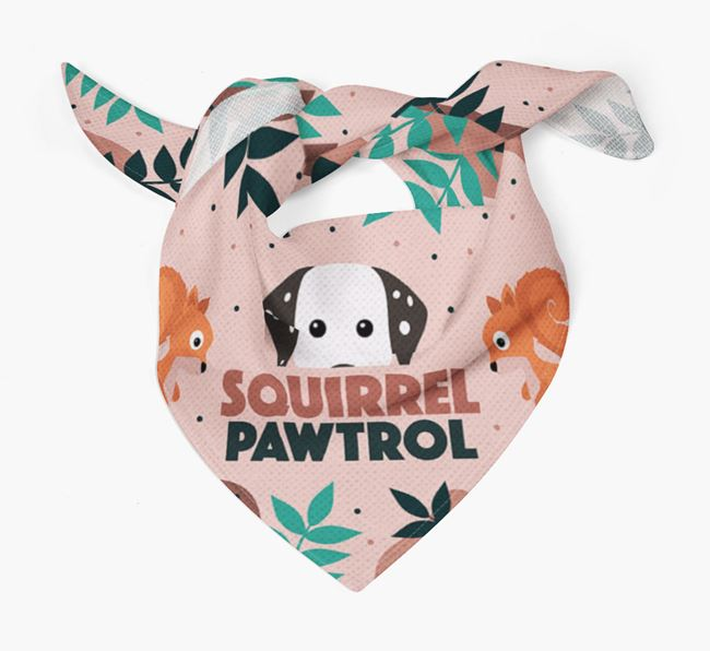 'Squirrel Pawtrol' - Personalised Dalmatian Bandana