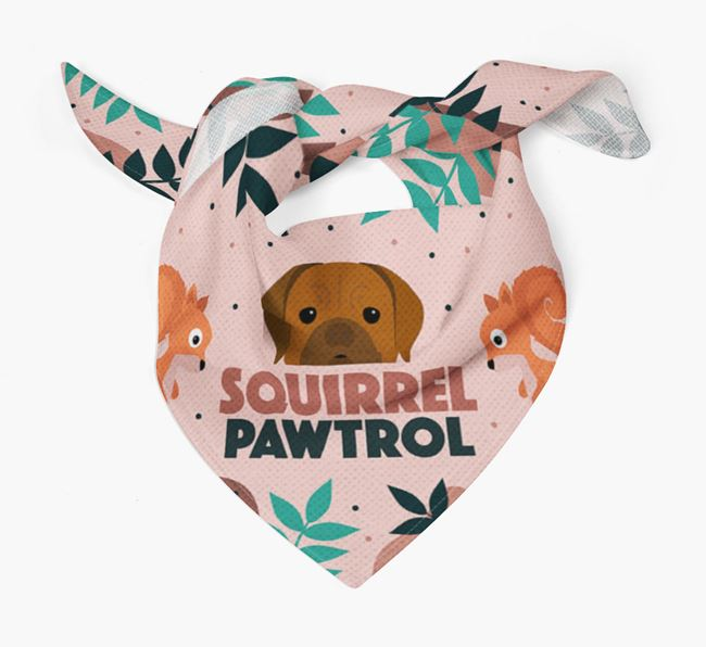 'Squirrel Pawtrol' - Personalised Dogue de Bordeaux Bandana