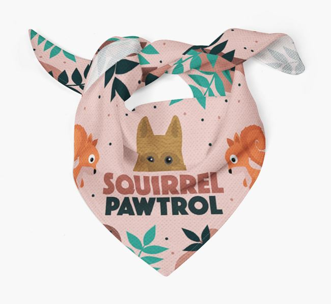 'Squirrel Pawtrol' - Personalised Dutch Shepherd Bandana