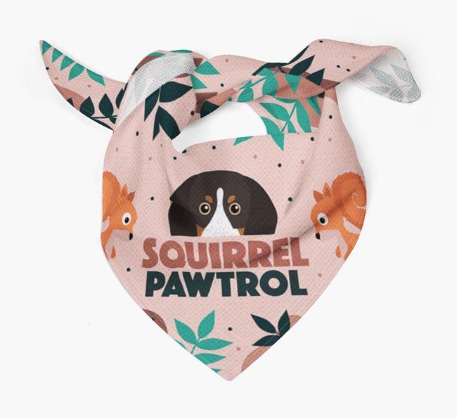 'Squirrel Pawtrol' - Personalised English Coonhound Bandana