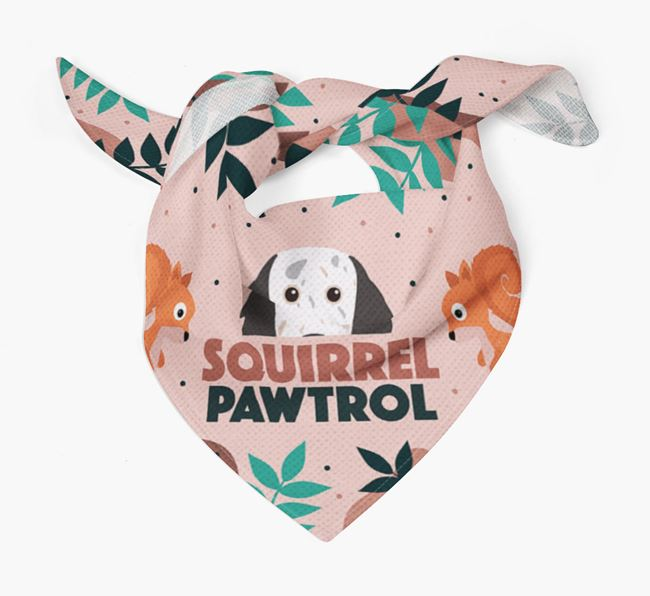'Squirrel Pawtrol' - Personalized English Setter Bandana