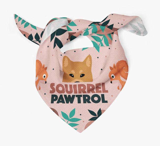 'Squirrel Pawtrol' - Personalised Finnish Spitz Bandana