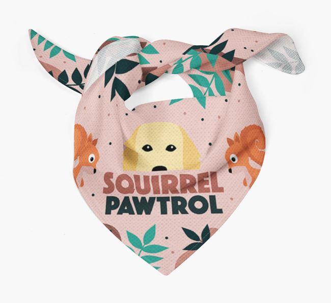 'Squirrel Pawtrol' - Personalised Flat-Coated Retriever Bandana