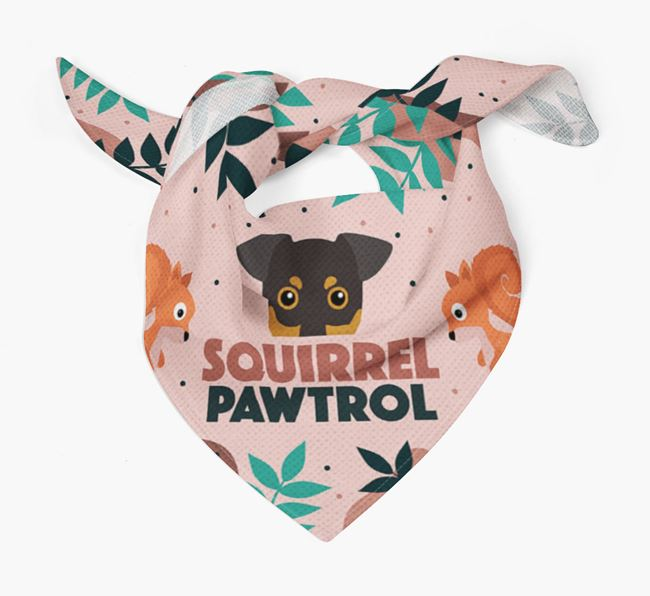 'Squirrel Pawtrol' - Personalised German Pinscher Bandana