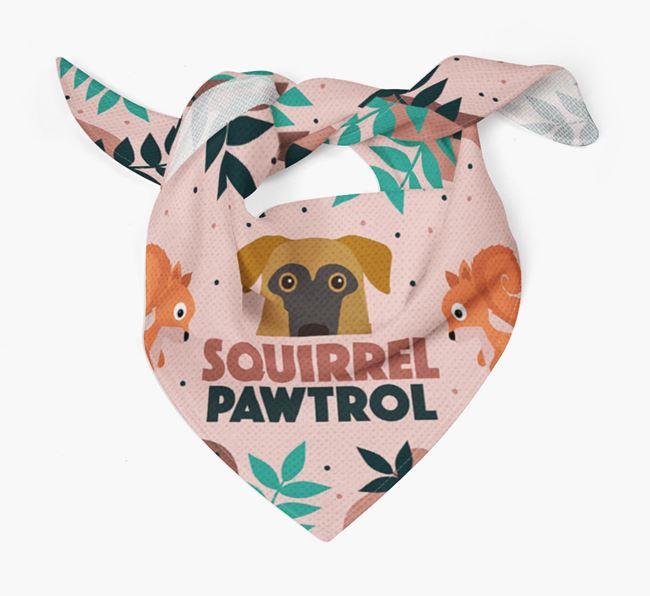 'Squirrel Pawtrol' - Personalised German Sheprador Bandana