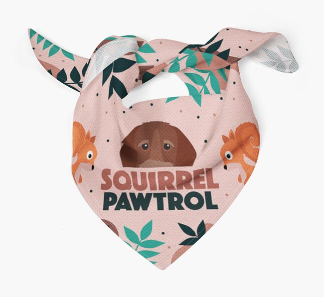 'Squirrel Pawtrol' - Personalised German Wirehaired Pointer Bandana