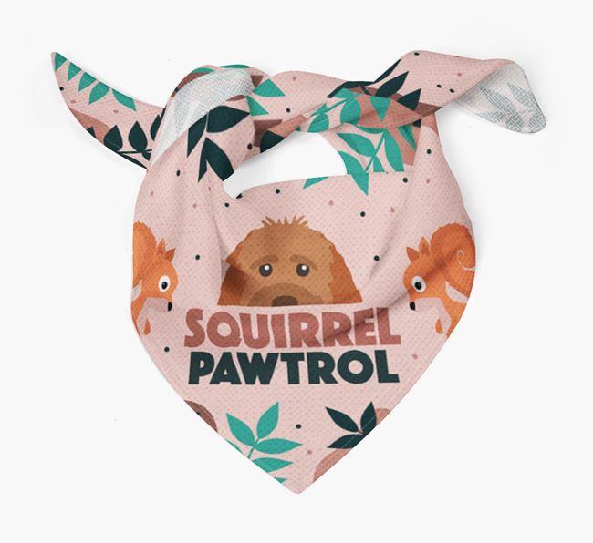 'Squirrel Pawtrol' - Personalised Goldendoodle Bandana