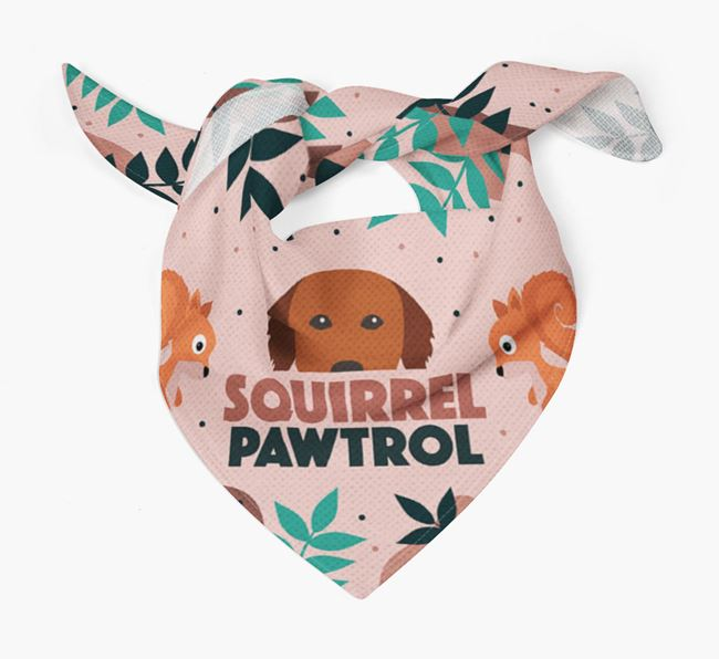 'Squirrel Pawtrol' - Personalised Golden Retriever Bandana