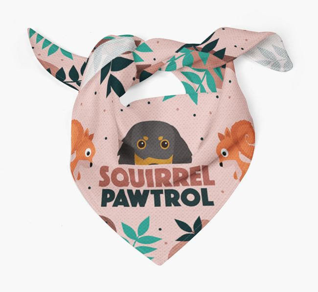 'Squirrel Pawtrol' - Personalised Gordon Setter Bandana