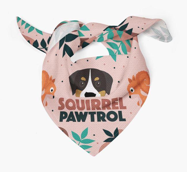'Squirrel Pawtrol' - Personalised Greater Swiss Mountain Dog Bandana