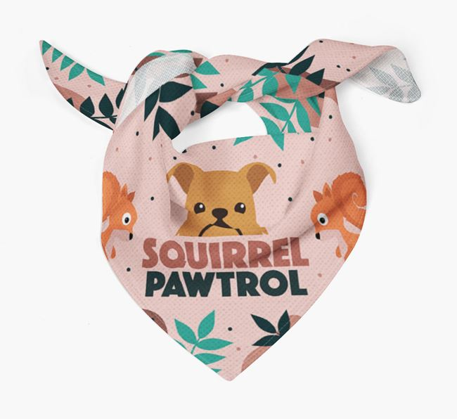 'Squirrel Pawtrol' - Personalised Griffon Bruxellois Bandana