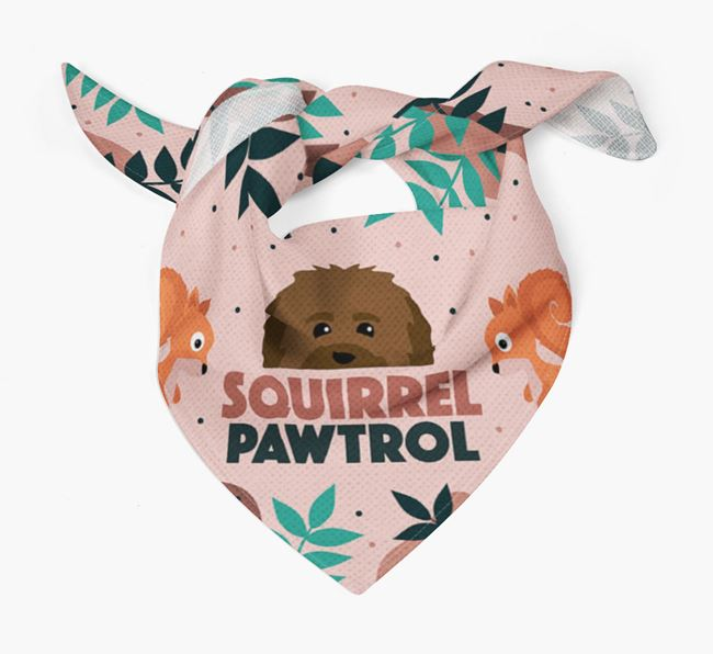 'Squirrel Pawtrol' - Personalised Havanese Bandana
