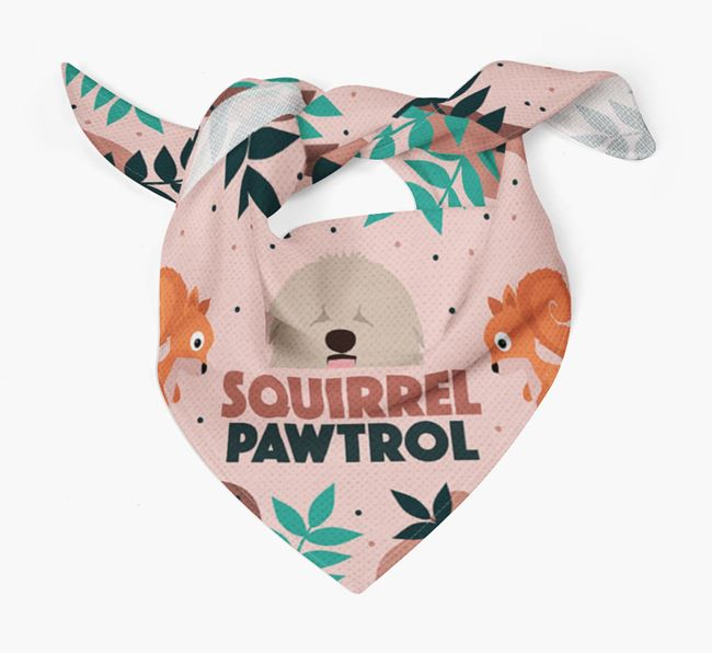 'Squirrel Pawtrol' - Personalised Hungarian Puli Bandana