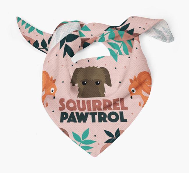 'Squirrel Pawtrol' - Personalised Irish Wolfhound Bandana