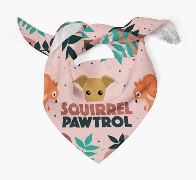 'Squirrel Pawtrol' - Personalised Italian Greyhound Bandana