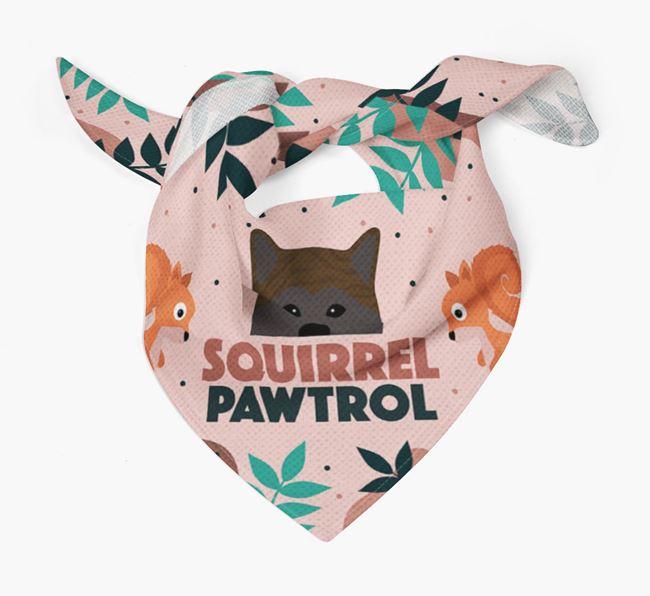 'Squirrel Pawtrol' - Personalised Japanese Akita Bandana