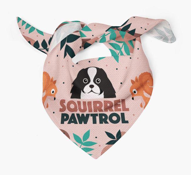 'Squirrel Pawtrol' - Personalised Japanese Chin Bandana