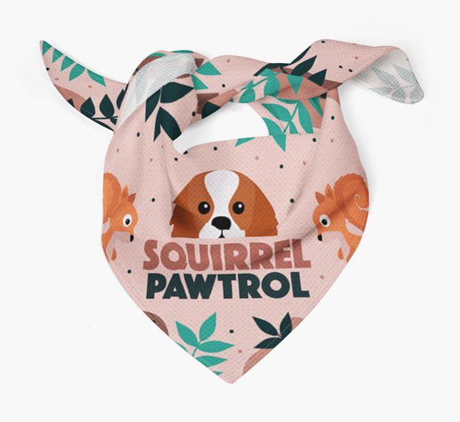 'Squirrel Pawtrol' - Personalised King Charles Spaniel Bandana