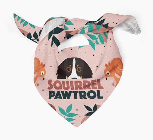 'Squirrel Pawtrol' - Personalised Kooikerhondje Bandana