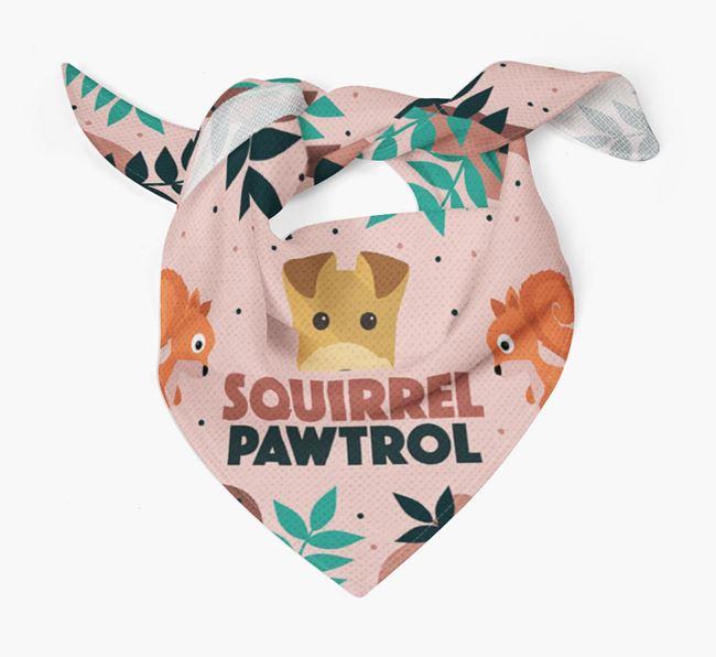 'Squirrel Pawtrol' - Personalized Lakeland Terrier Bandana