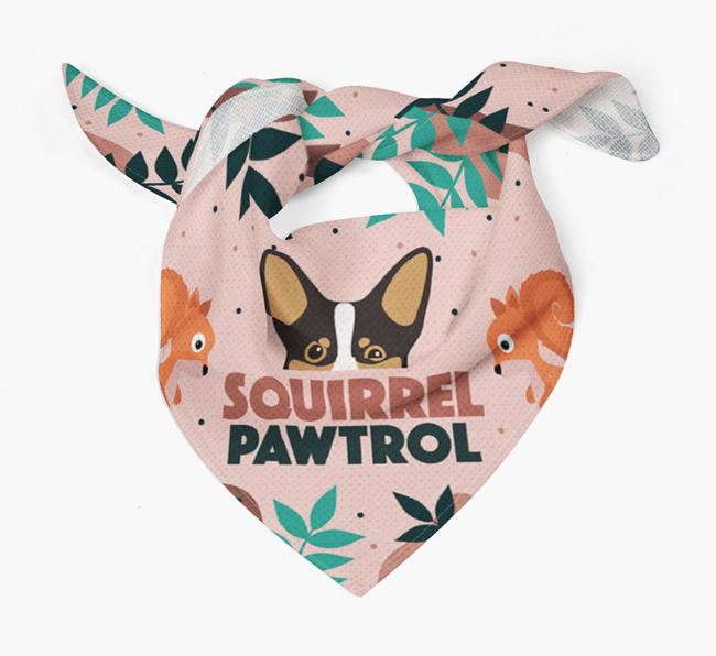 'Squirrel Pawtrol' - Personalised Lancashire Heeler Bandana