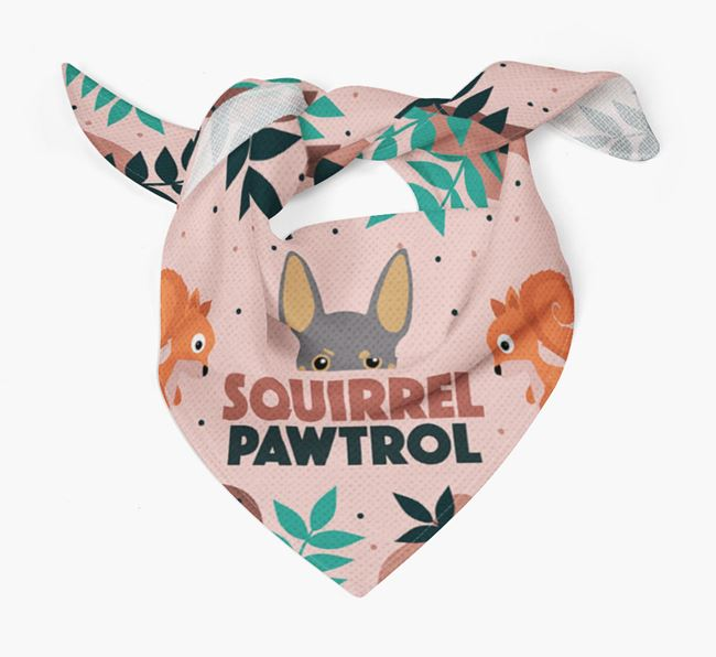 'Squirrel Pawtrol' - Personalised Miniature Pinscher Bandana