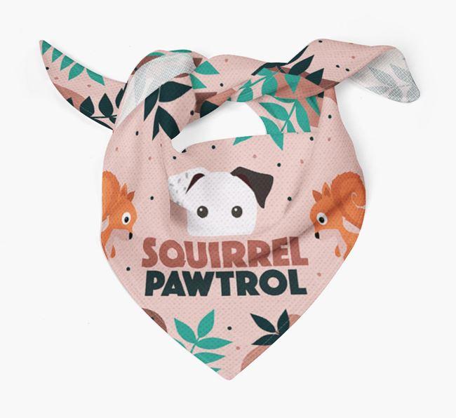 'Squirrel Pawtrol' - Personalized Mixed Breed Bandana