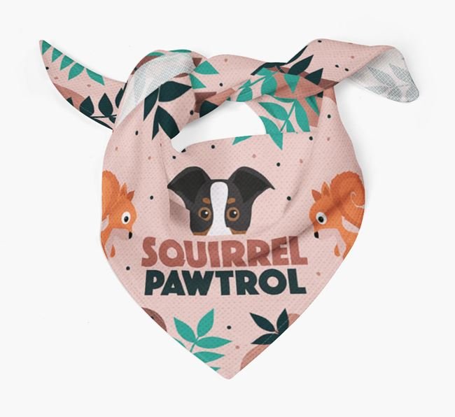 'Squirrel Pawtrol' - Personalised New Zealand Huntaway Bandana