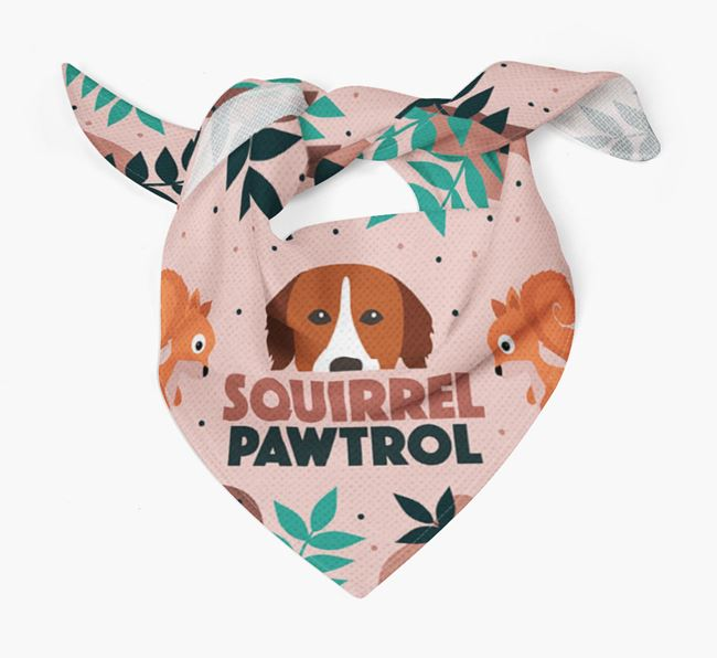 'Squirrel Pawtrol' - Personalised Nova Scotia Duck Tolling Retriever Bandana