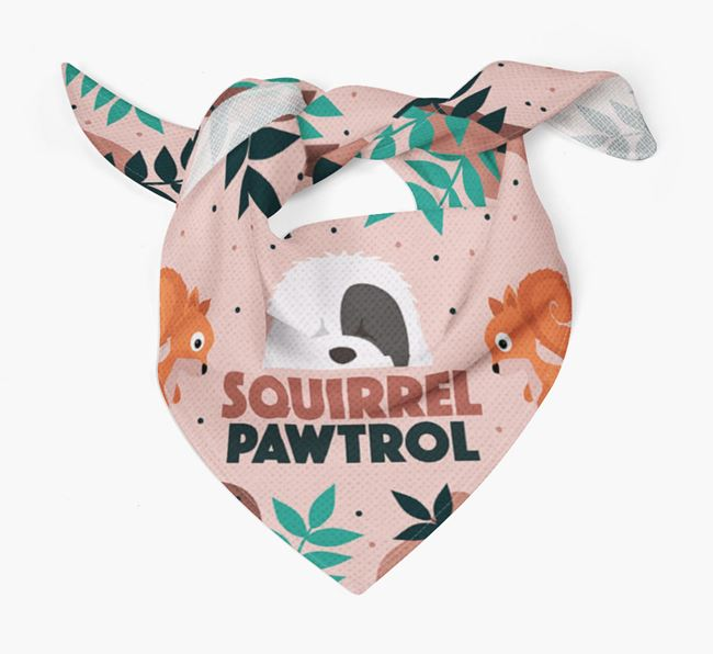 'Squirrel Pawtrol' - Personalised Old English Sheepdog Bandana