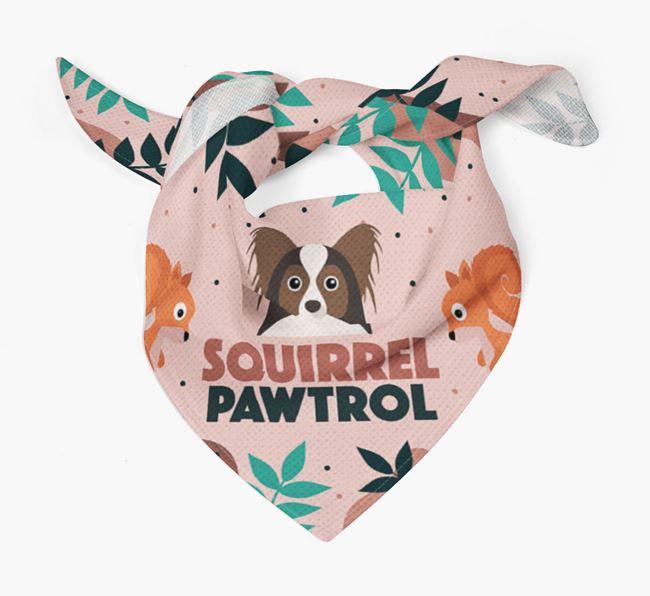 'Squirrel Pawtrol' - Personalised Papillon Bandana