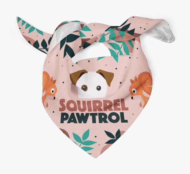 'Squirrel Pawtrol' - Personalised Parson Russell Terrier Bandana
