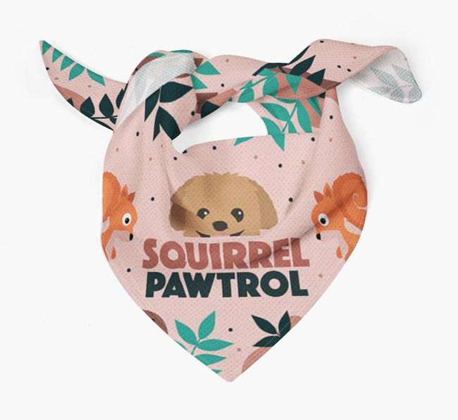 'Squirrel Pawtrol' - Personalised Pomapoo Bandana