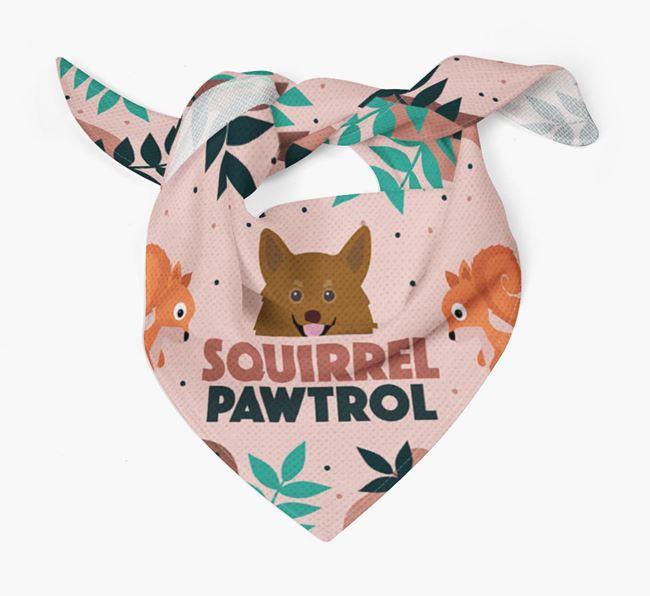 'Squirrel Pawtrol' - Personalised Pomchi Bandana